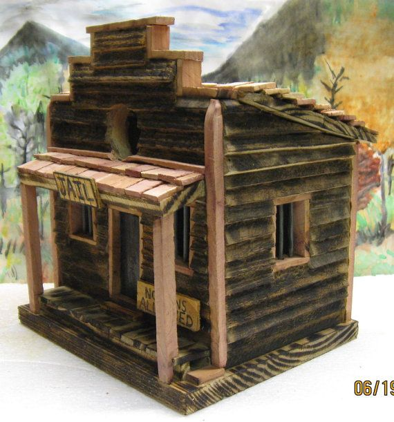 Old Western Style Jail Birdhouse Unique Bird Houses Bird Houses Bird Houses Diy