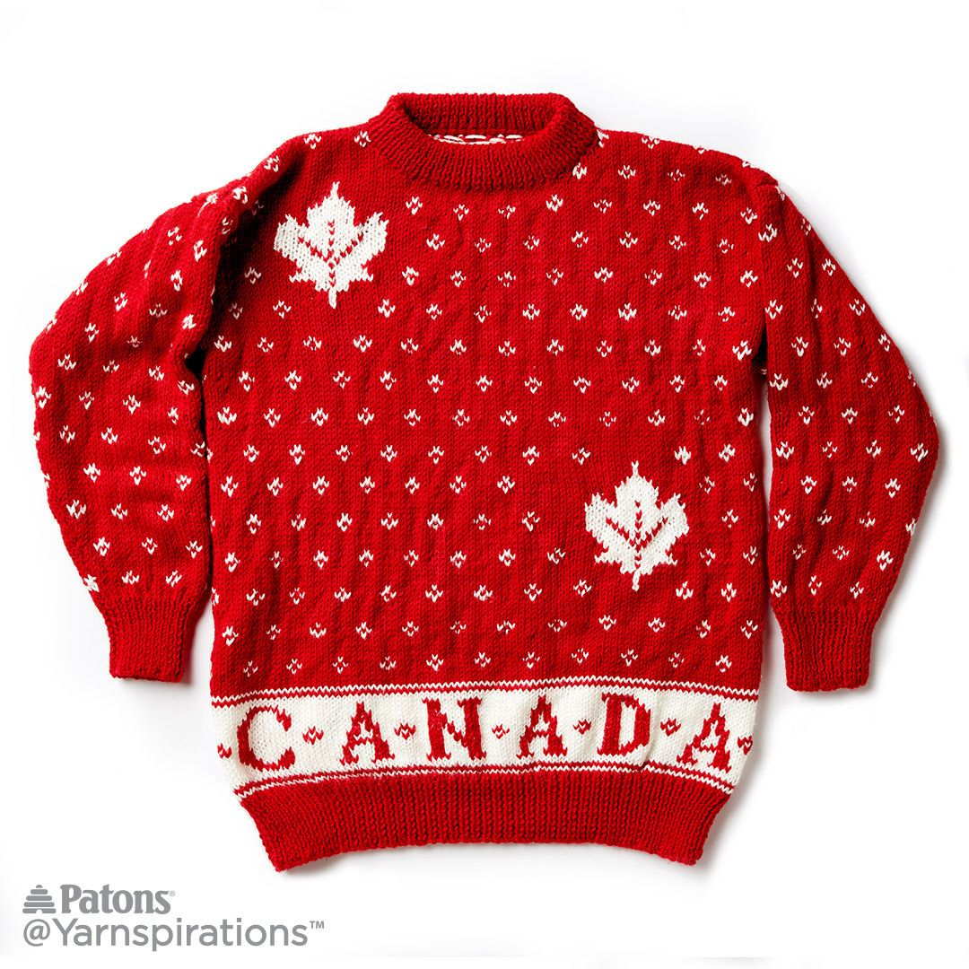 Canada Knit Adult Sweater | Craft Ideas/Patterns | Pinterest ...