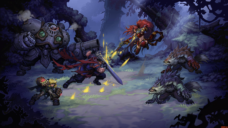 Battle-Chasers-NightWar-game-1st-concept-art-mookup-madureira-color-m.jpg (5760×3240)