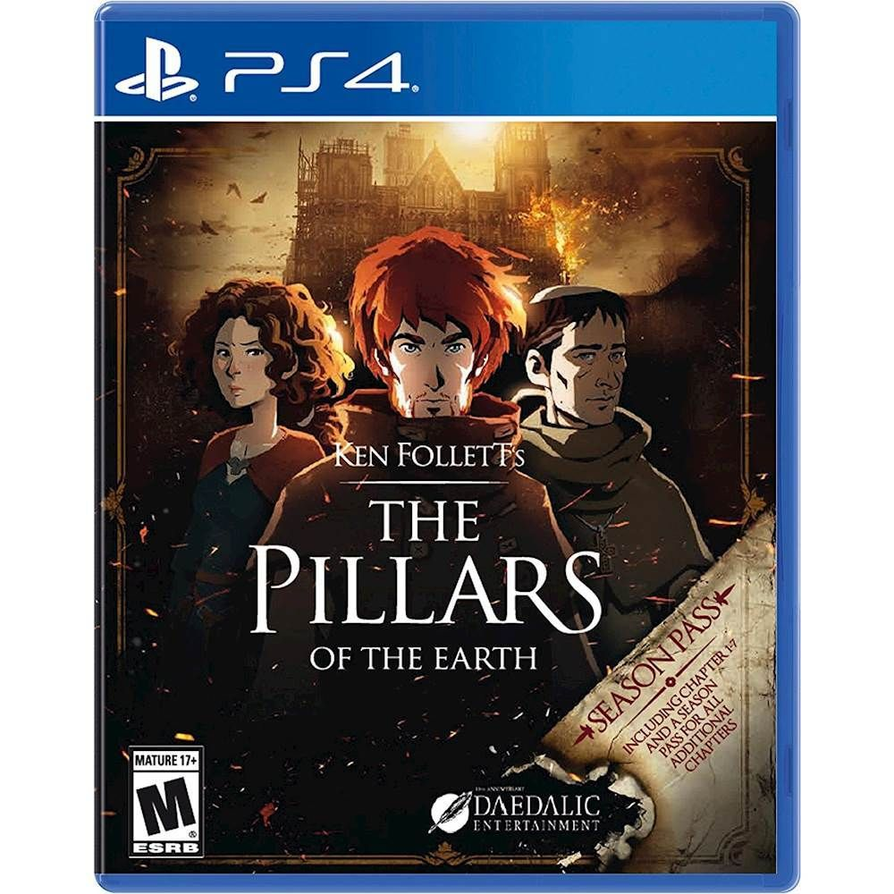 Kết quả hình ảnh cho Ken Follett's The Pillars of the Earth cover ps4