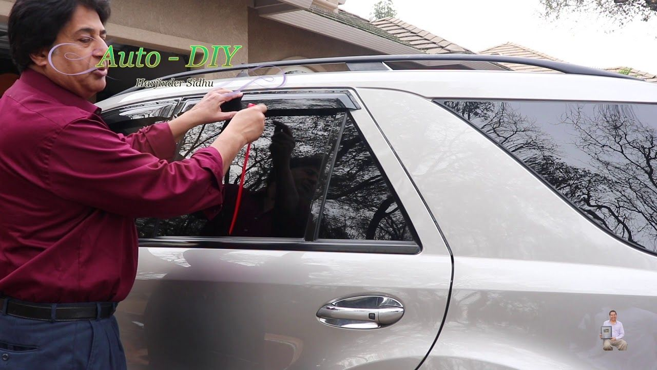 How To Install Window Visor On Mercedes Ml550 Deflector Rain Guard On Installation Mercedes Guard