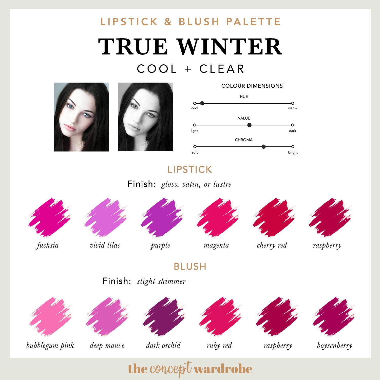 TRUE WINTER | Lipstick & Blush Palette