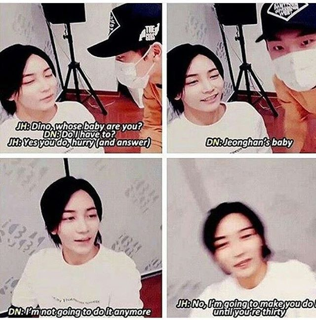 cd291bfdcb0 my favourite thing ever XD. Forever Jeonghan s baby