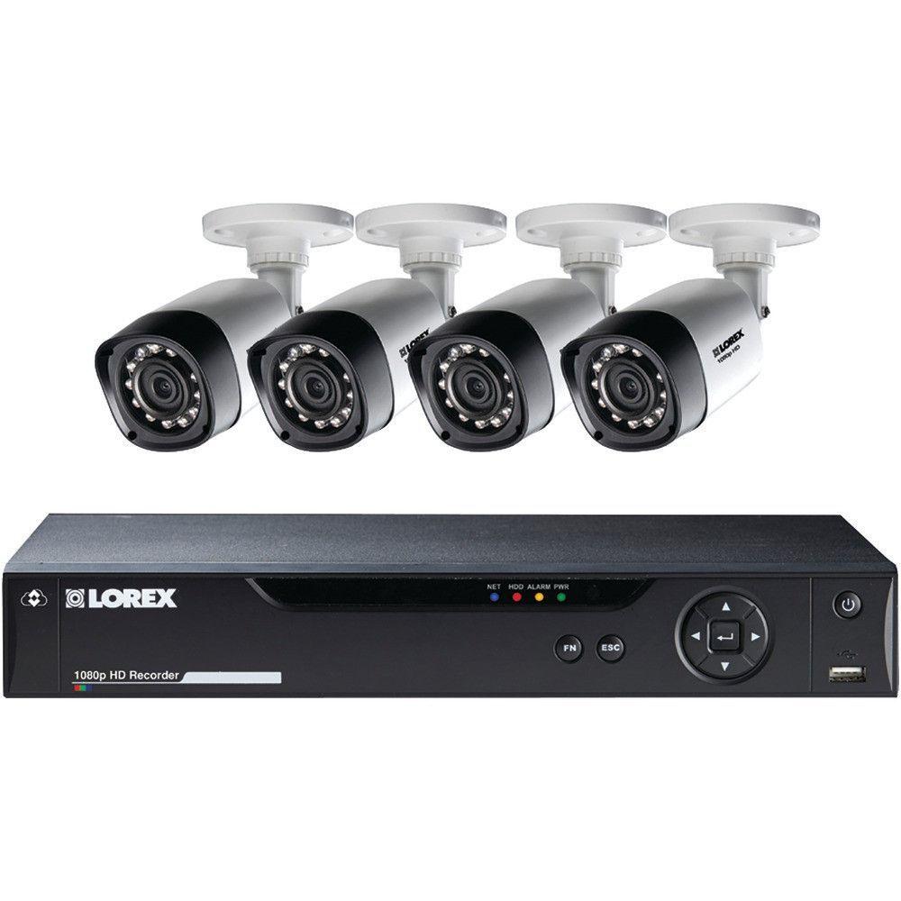 Lorex By Flir 8-channel 1080p Hd Mpx Dvr With 4 1080p Weatherproof