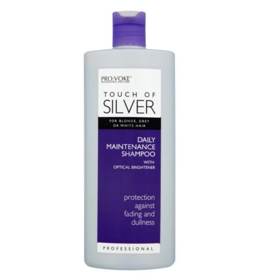 Touch Of Silver Daily Maintenance Shampoo 400ml Boots Shampoo Silver Grey Hair Silver Hair