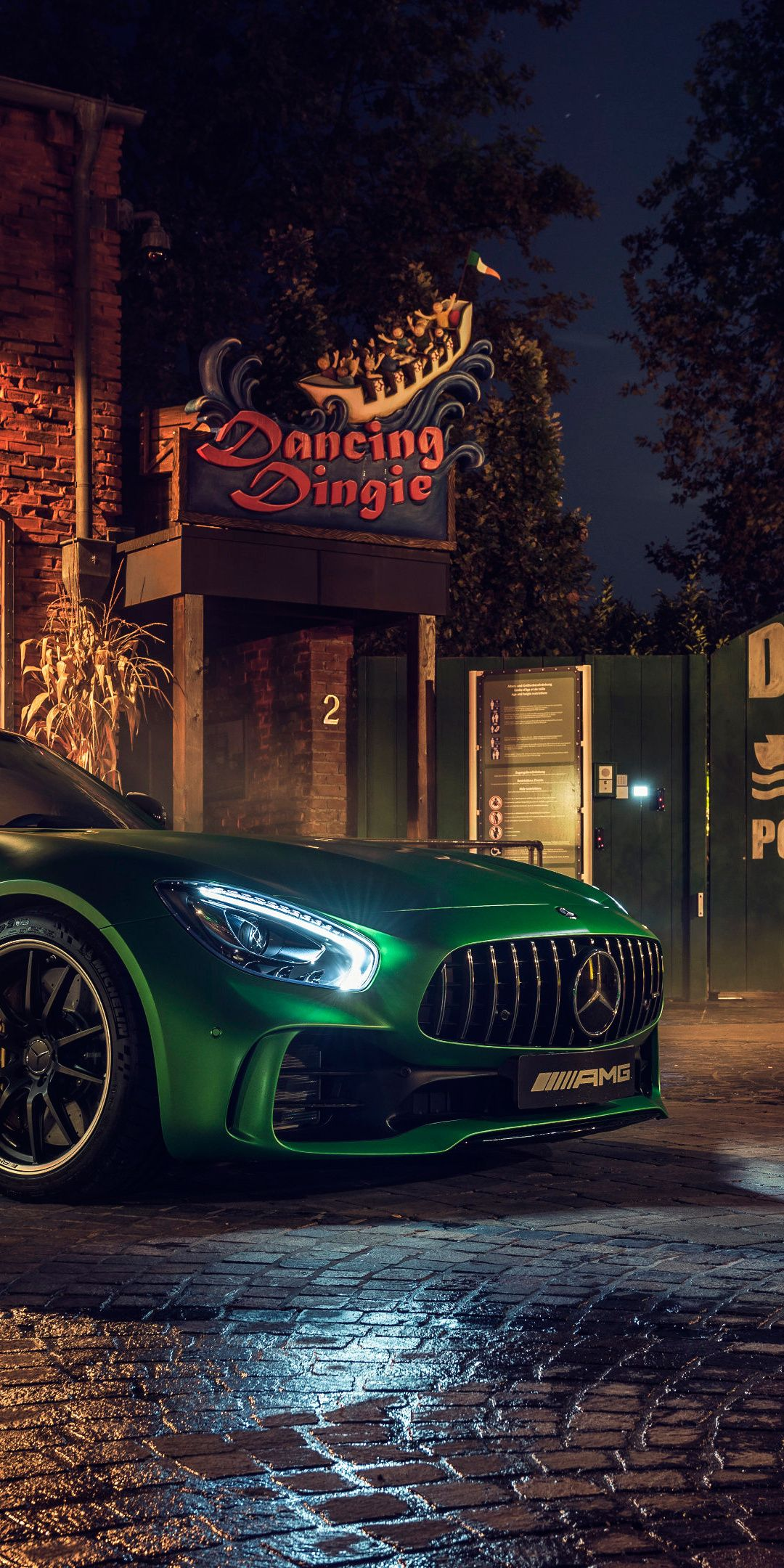 Mercedes Amg Gt R Green Luxury Car 1080x2160 Wallpaper