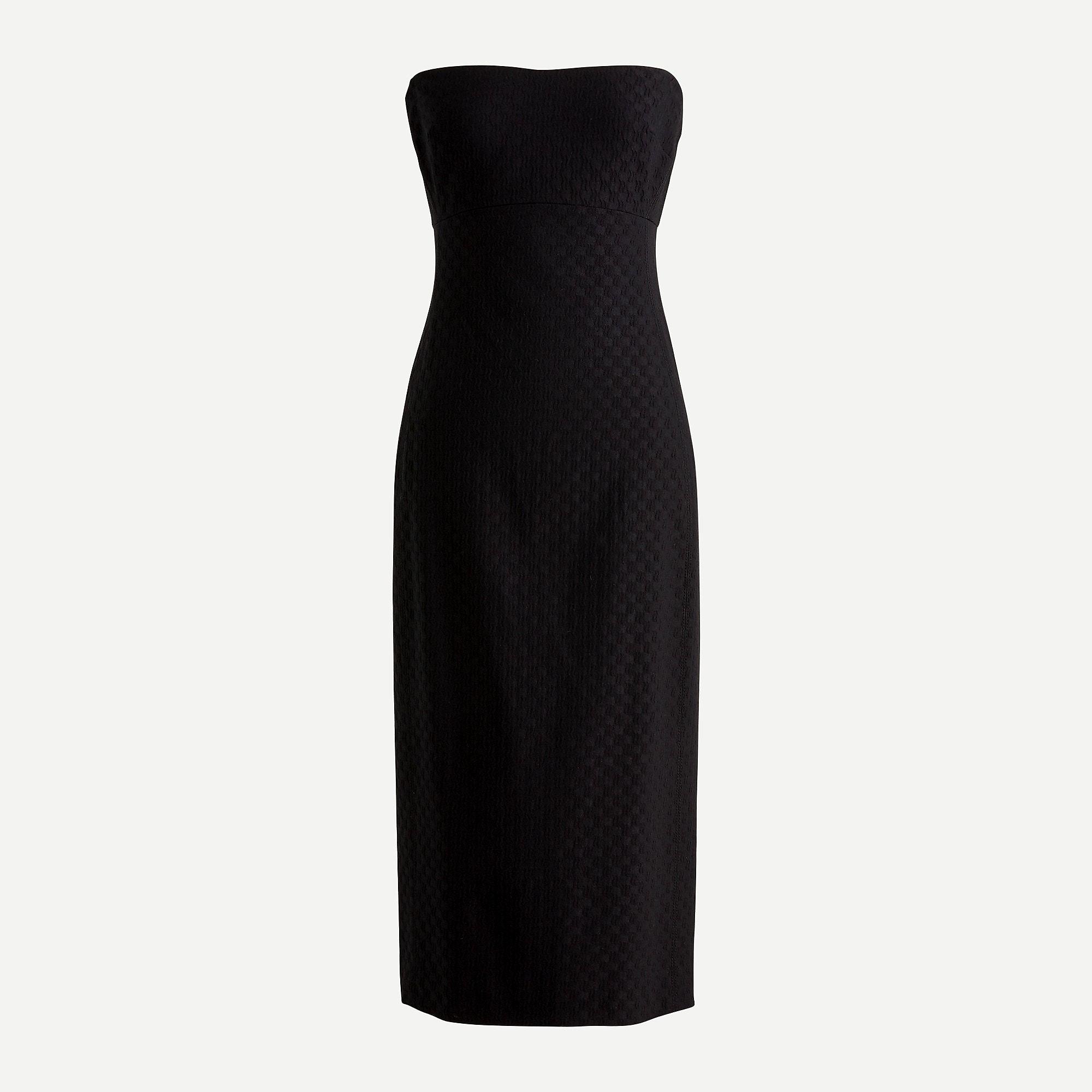 Strapless Dress In Stretch Matelasse Dresses Strapless Dress Black Strapless Dress [ 2000 x 2000 Pixel ]