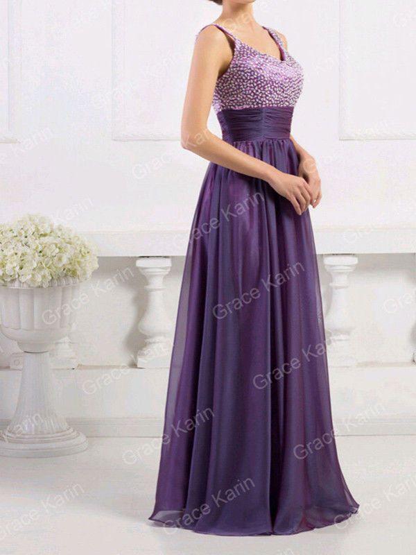 Mujer Largo Atractivo Fiesta De Noche Baile Vestido Gala Formal Dama ...