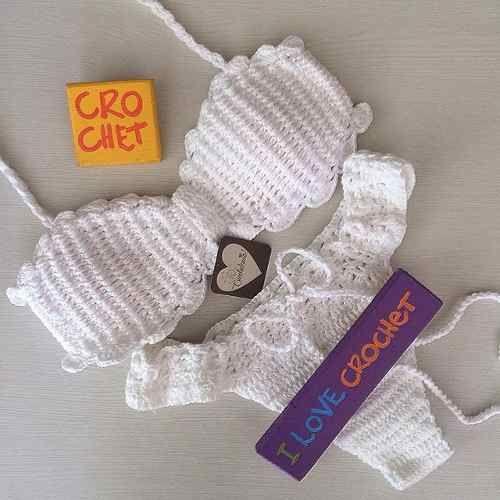 d9410cbae627 biquíni de crochê tomara que caia completo - com bojo | biquinis ...