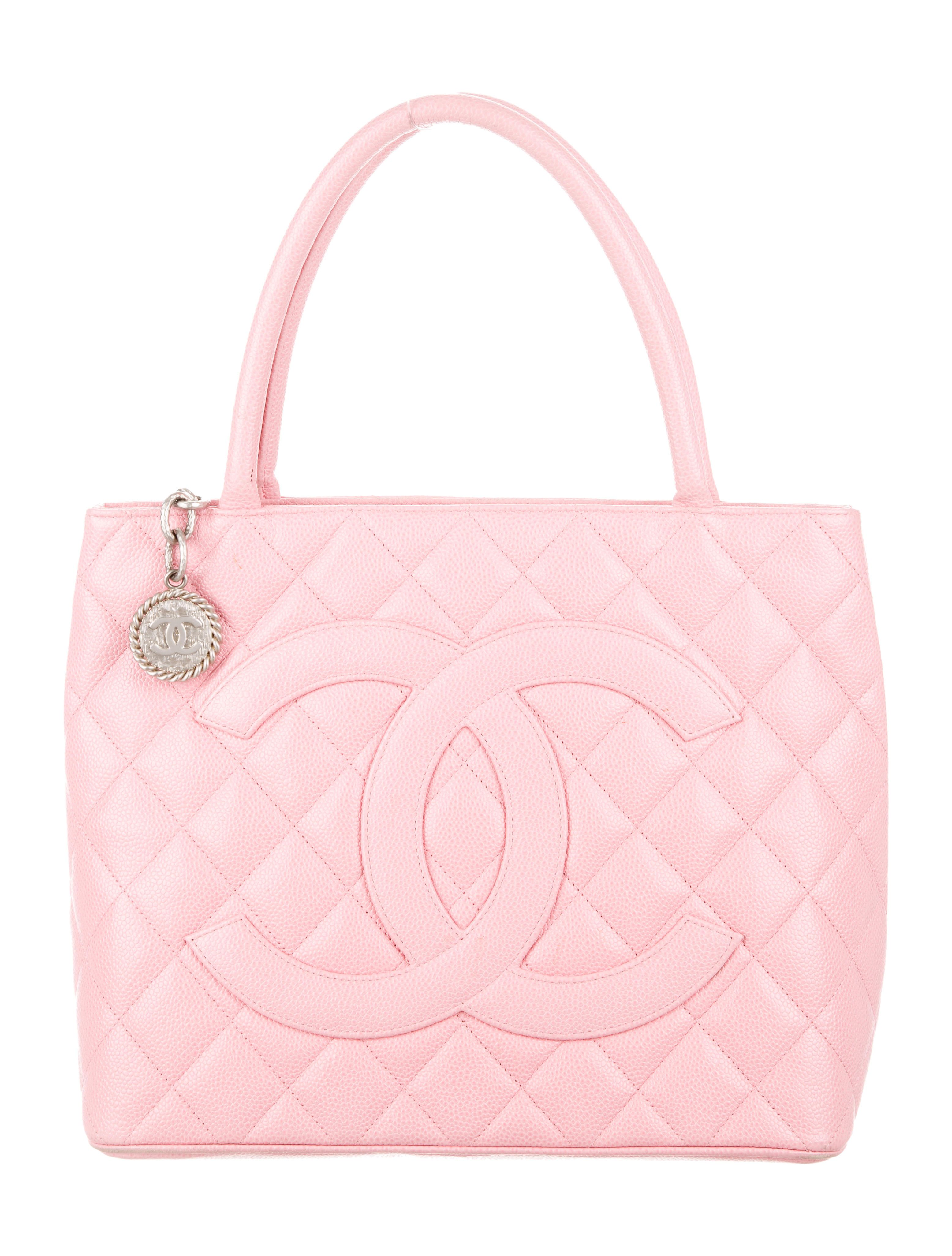cbfa68223fed Pink quilted Caviar leather Chanel Medallion tote with silver-tone  hardware, dual rolled top