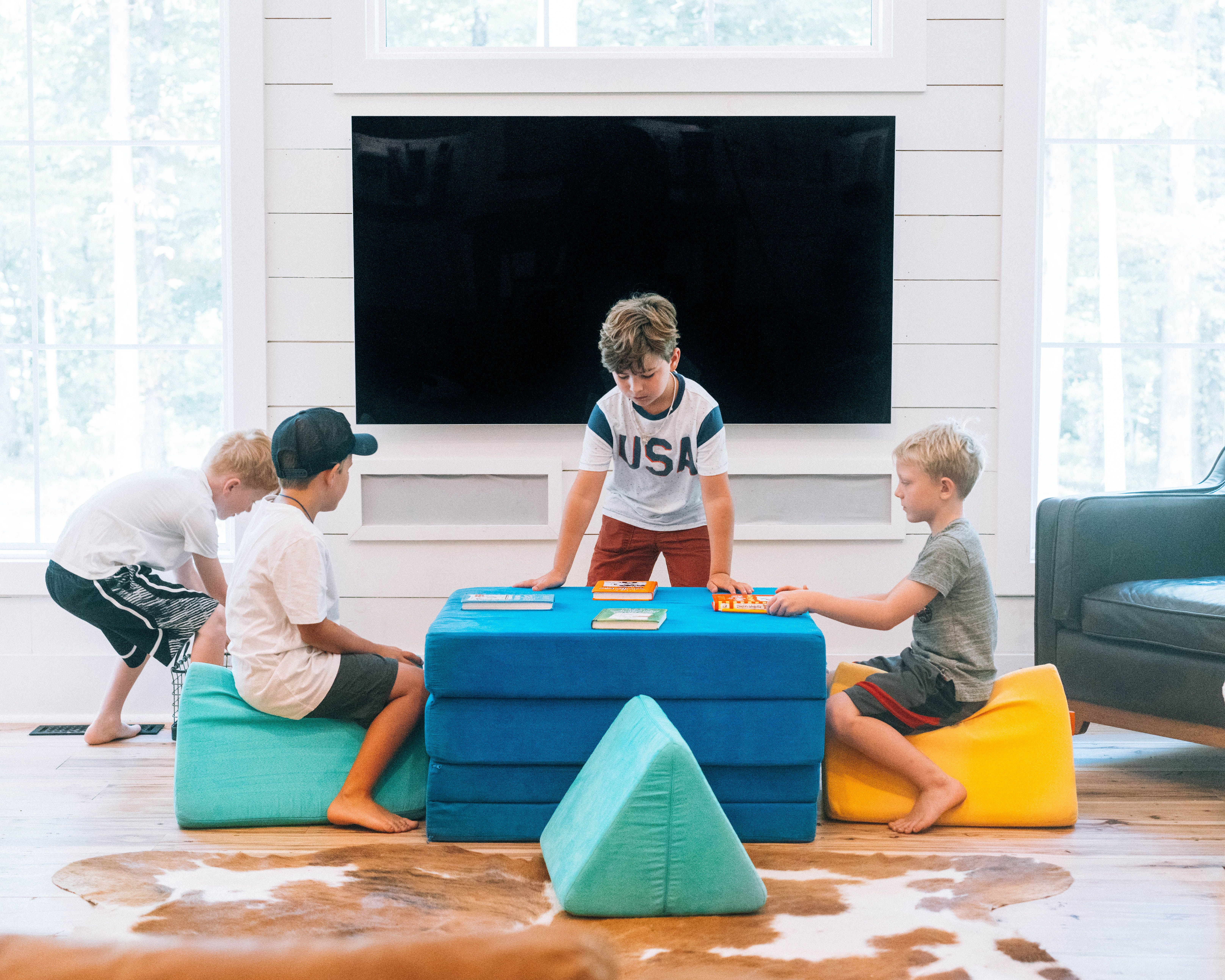 #nuggetcomfort #foamcouch #playroomcouch #playroom # ...