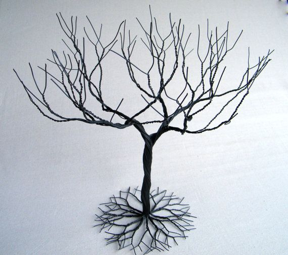 Black Large Jewelry Tree Stand Wire Tree Sculpture Perfect For Necklaces Earrings Rings Etc Display Holder Tree Organizer 1 Jewelry Tree Stand Wire Tree Sculpture Jewelry Tree