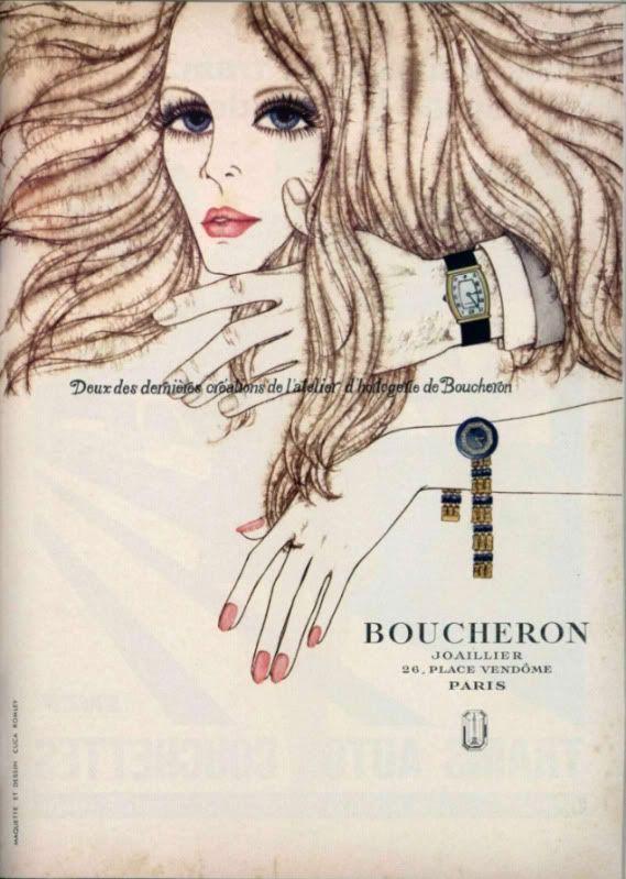 Boucheron advertisement. From L'Officiel, 1969.