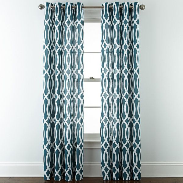 Jcpenney Home Cotton Classics Ogee Grommet Top Curtain Panel