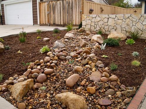 River Rock Vs Mulch The Great Debate