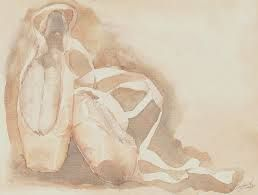Image Result For Ballet Shoes Painting