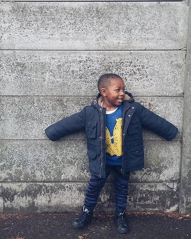 Fashion boy throwing shapes in Mini Rodini #kootd