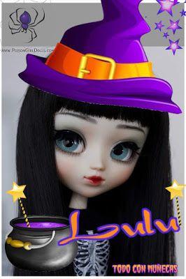 imagenes fantasia y color muequitas brujitas con nombres halloween