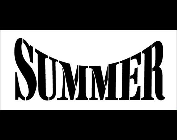 Summer Word Stencil Half Arched 11 Quot X 5 Quot Stcl498 By