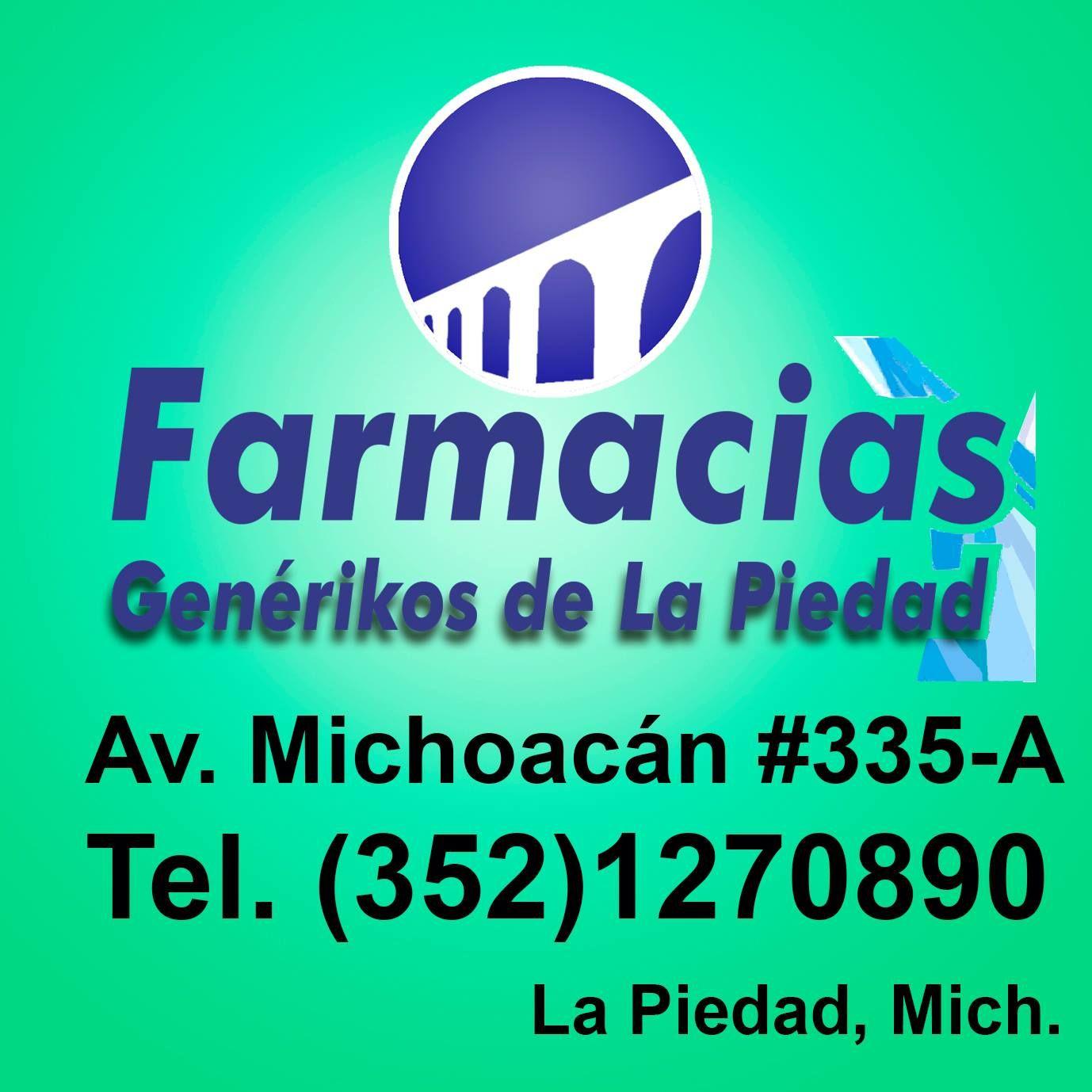 Farmacias Genérikos de La Piedad, con tu membresía de Cliente Consentido, te ofrecemos 10% de descuento.  Av. Michoacán #335-A  Tel. 352 127 0890  La Piedad, Mich.