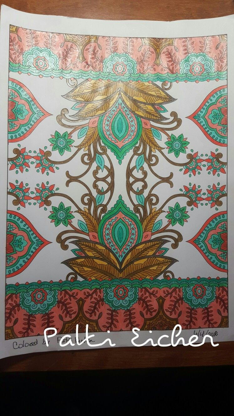 Coloring Books Creative Haven Mehndi Designs Marty Noble Used Marco Raffine Colored Pencils