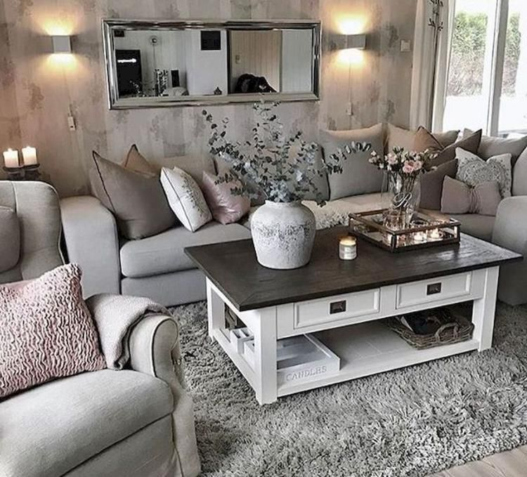 75 Shabby Chic Living Room Decor Ideas
