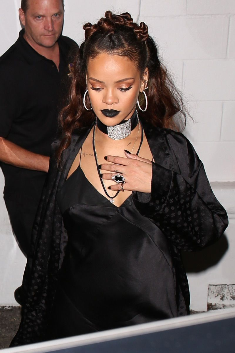 Rihanna Leaves the Mama Gallery in Los Angeles