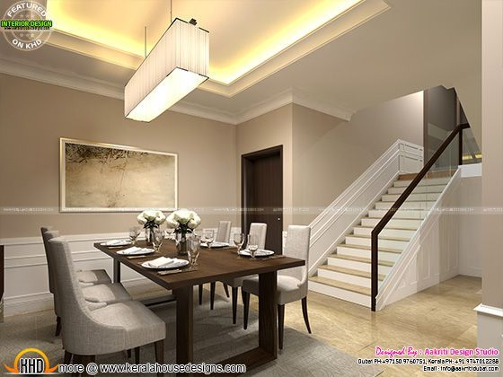Classic Style Interior Design For Living Room Stair Area And