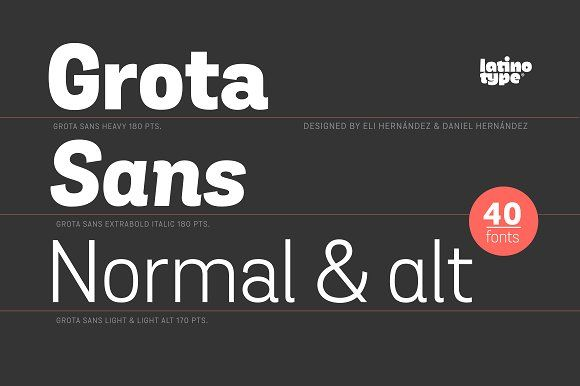 Grota Sans Complete Family- 30% off! by Latinotype on ...
