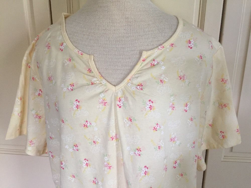 Brand New Beautiful Coral Bay Plus Size Nightgown Yellow Floral 2x