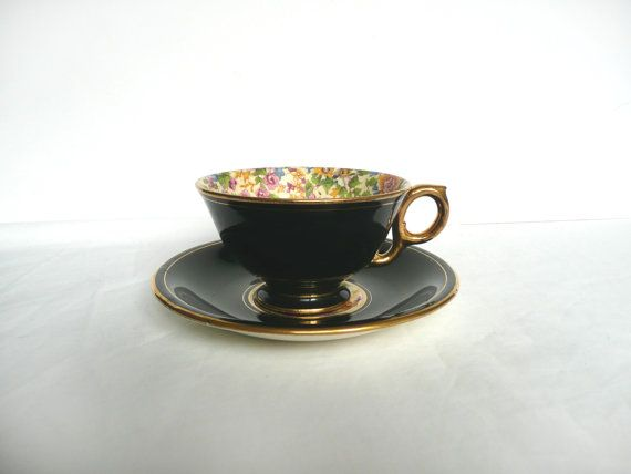 Royal Winton Grimwades - chintz cup and saucer - Royal Winton chintz - rare Royal Winton Grimwades Best Gold - 1952 chintz cup and saucer