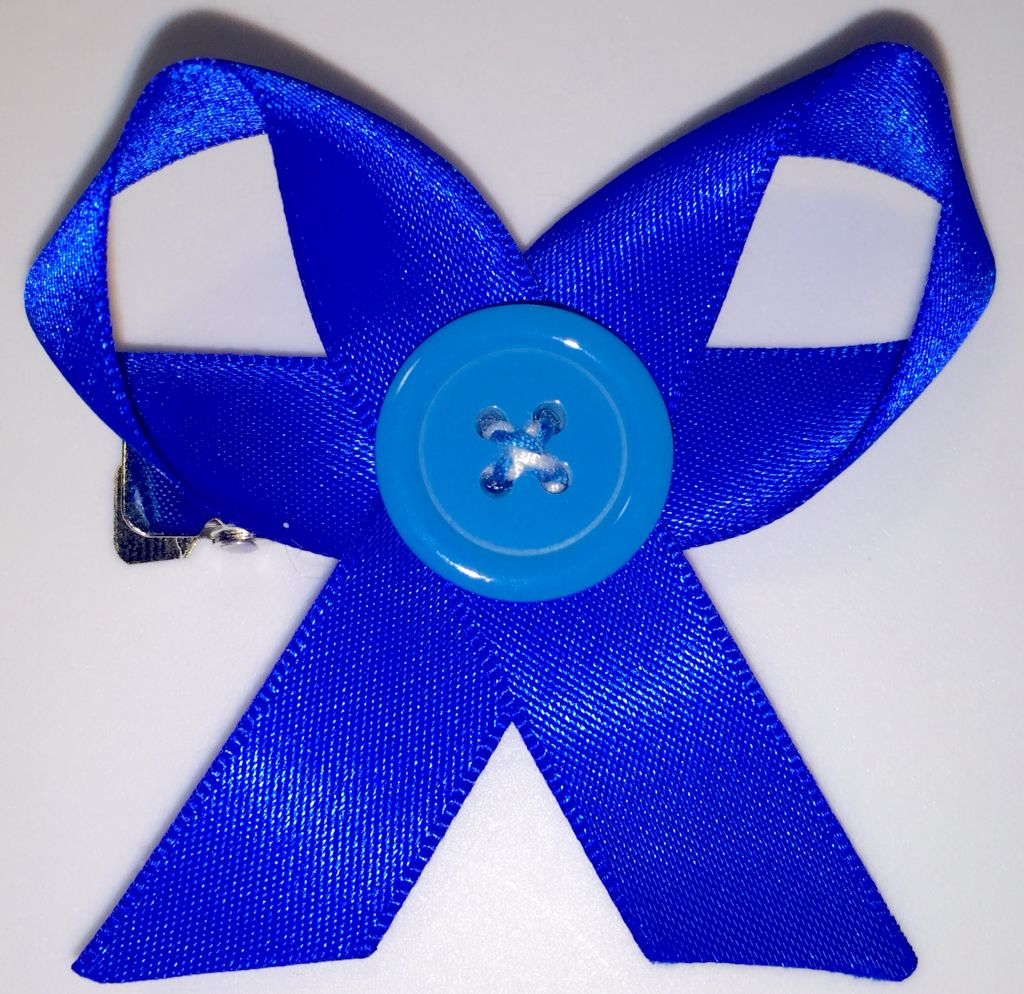 Hair bow button accessories - Blue Crafters Hair Bow With Button Available On Therubypig Com