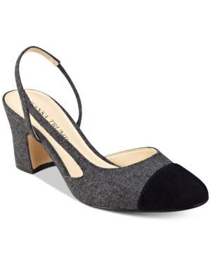 b5d1c2fe92 Ivanka Trump Liah Slingback Block-Heel Pumps - Gray 8M | Products ...