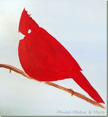 How To Paint A Red Cardinal Watercolor Bird Acrylic Painting