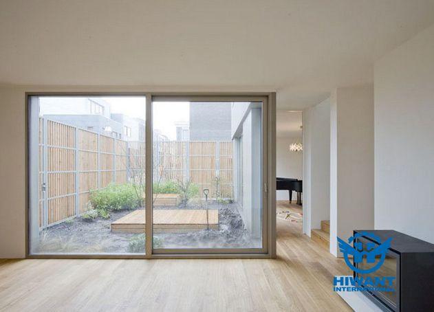 Aluminium Profile Frame Glass French Windows And Electrophoresis Aluminium  Alloy Frame Glass Sliding Doors.