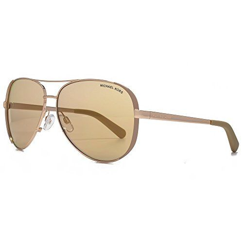 46b39709dfa Michael Kors Chelsea Aviator Sunglasses in Rose Gold Taupe MK5004 1017R1 59