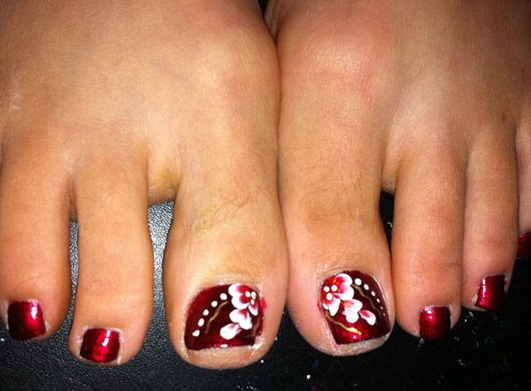 30+ Toe Nail Designs - 30+ Toe Nail Designs Flower Toe Nails, Toe Nail Designs And Toe