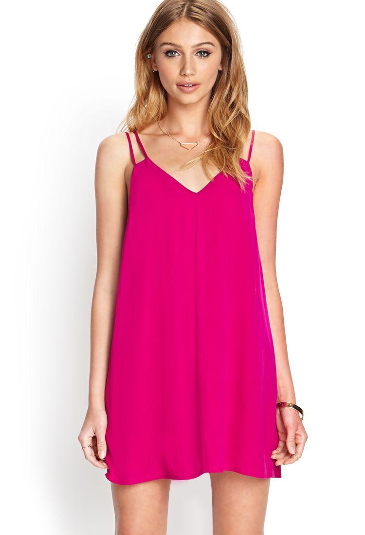 Pink dress forever 21  VNeck Shift Dress  FOREVER    Womenus Style