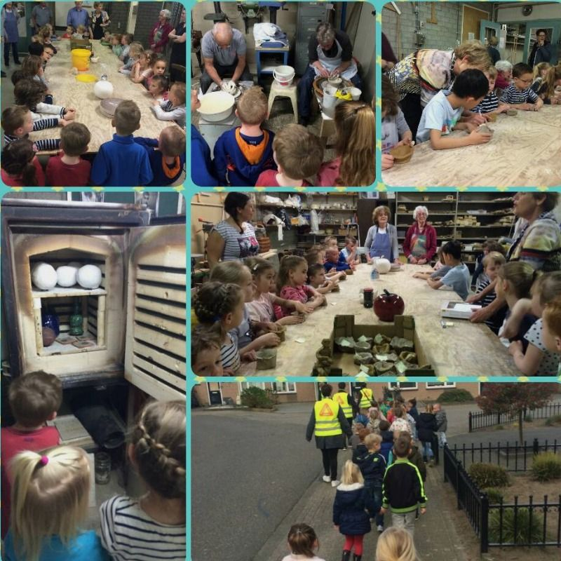 De Kruudwis: groep 1-2 leert alles over van klei tot aardewerk.
