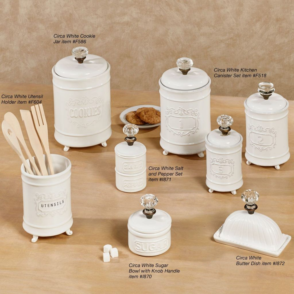 white canister sets kitchen