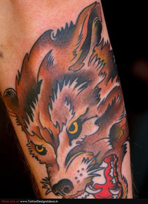 japanese wolf tattoo - Google Search