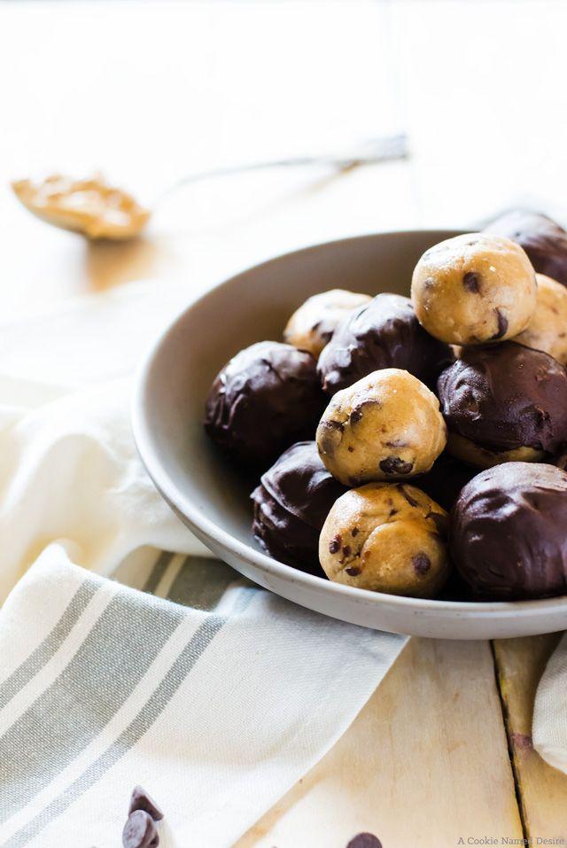 Peanut Butter Chocolate Chip Cookie Dough Truffles recipe