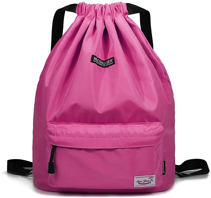 Drawstring Backpack Water Rose Rucksack