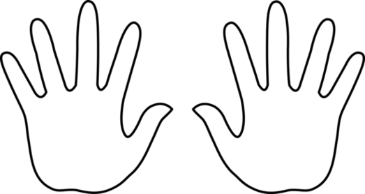Small Child S Handprint Template Yahoo Image Search