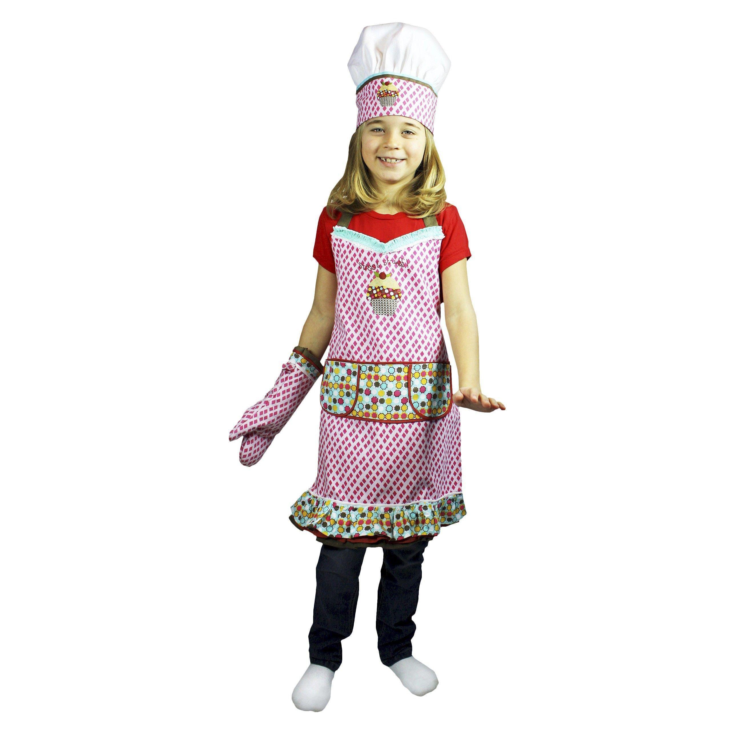 3 Piece Kids Chef Set (Apron, Hat, Mitt) - Sweet... : Target - maybe ...