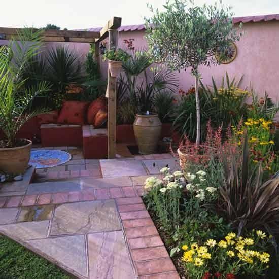 Garden Ideas Mediterranean mediterranean-style courtyard | mediterranean style, gardens and yards