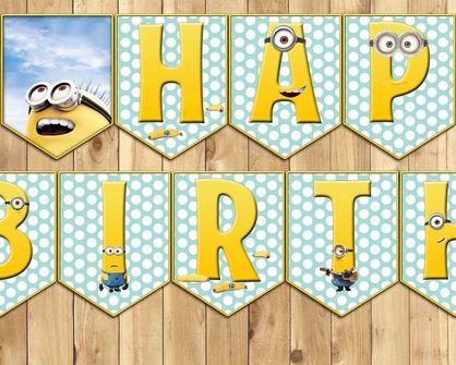 Free Downloadable Minions Happy Birthday Banner Minionsbirthday