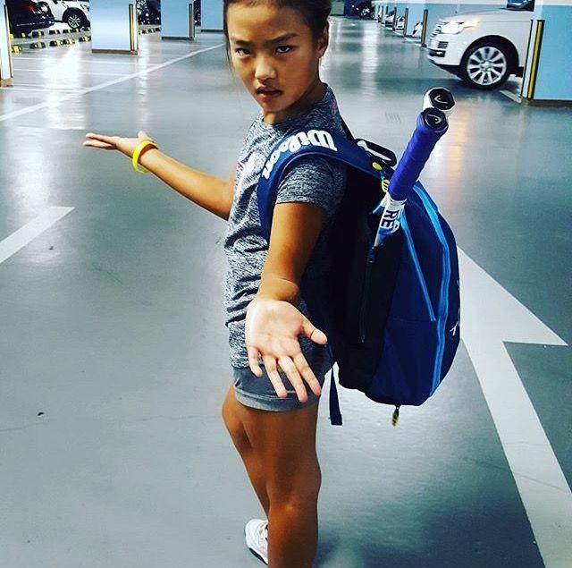 Jaeah tennis practice