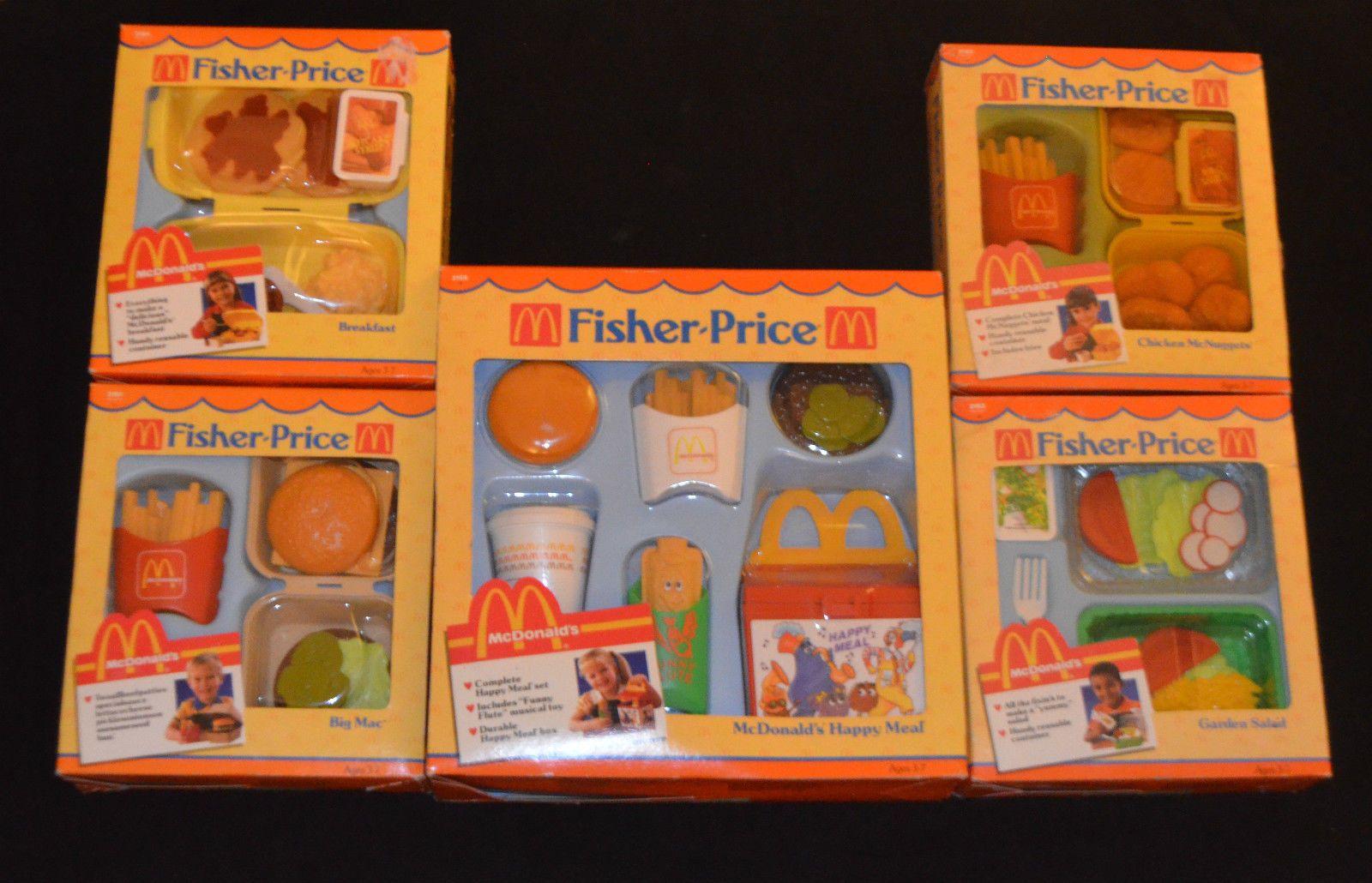 Vintage Fisher Price Mcdonald S Play Food Happy Meal Big Mac Breakfast More