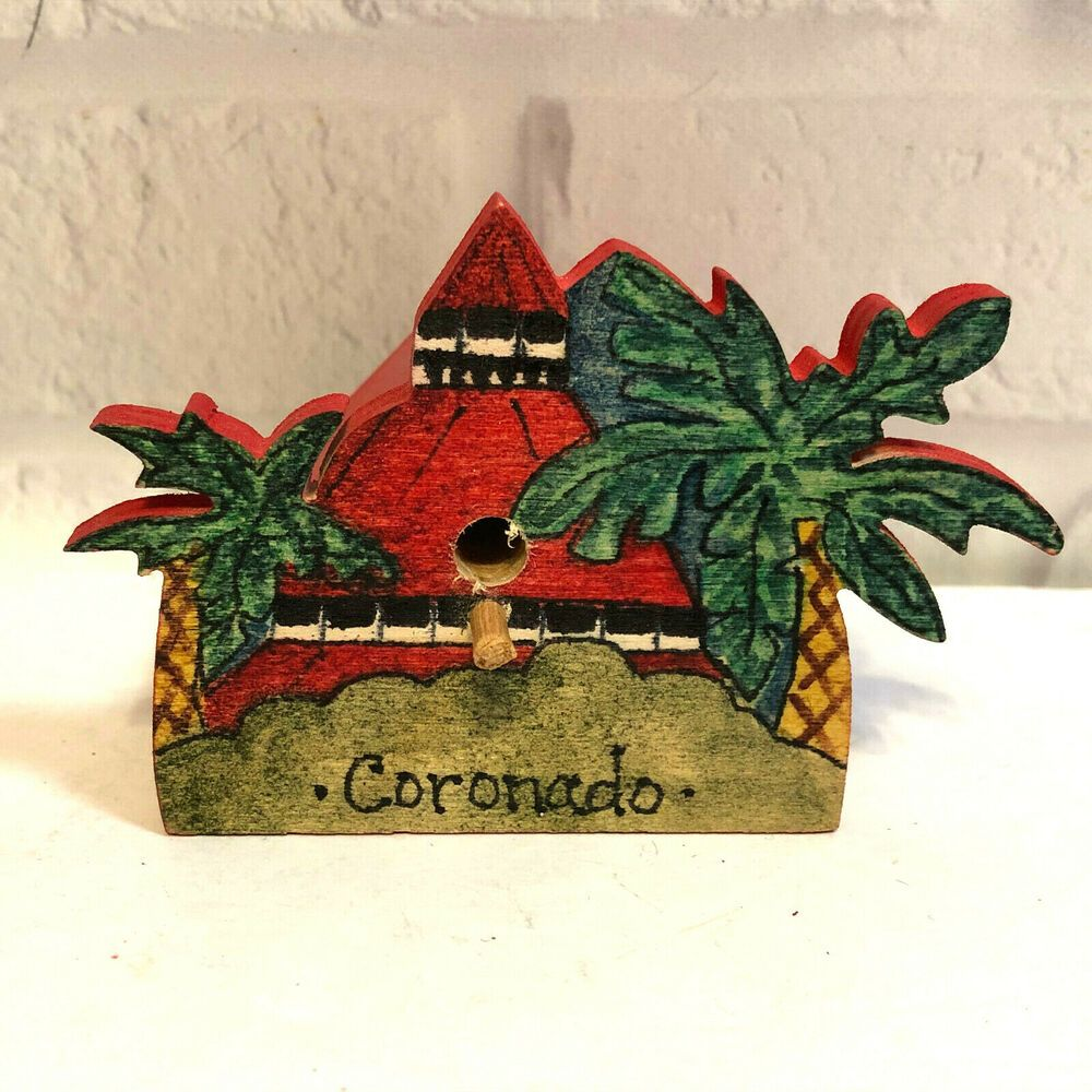 Hotel Del Coronado 2020 Christmas Ornament 2020 Hotel Del Coronado Hand Painted Wooden Birdhouse Christmas